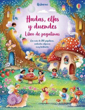 LIBRO PEGATINAS. HADAS ELFOS Y DUENDES